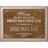 Personalized Welcome Plaque