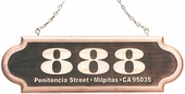 Personalized Wood Address Plaque