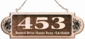Personalized Wood Address Plaque w/ Designs