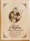 Personalized Wood Birthday Plaque