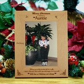 Personalized Wood Christmas Frame for Auntie