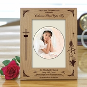 Personalized Wood First Communion Picture Frame