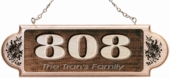 Personalized Wooden Address Plaque w/Message