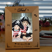 Personalized Wooden Picture Frame for Dad