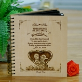 Personalized Wooden Wedding Photo Album