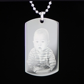 Photo Dog Tag with One Image
