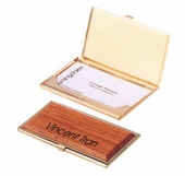 Rose Wood Personalized Business Cardholder
