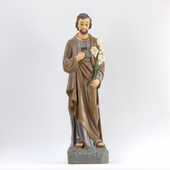 Saint Joseph Brown and Gray Garment Statue