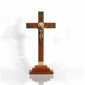 Table Top Walnut Wood Crucifix