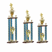 Three Columns Blue Trophies