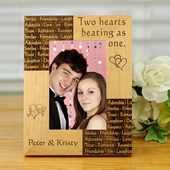 Two Hearts Personalized Photo Frame
