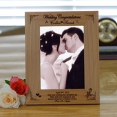 Wedding Congrats Personalized Photo Frame
