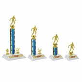 White Base Soccer Trophies Set