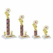 White Base USA Trophies Set