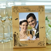 Wooden Wedding Personalized Picture Frame