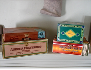 Cigar Box Collection #4 *This set includes 9 gorgeous aluminum cigar tubes* (ONLY 1 OF THIS SET!)