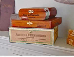 *SOLD*  Cigar Box Collection #1 *This set includes 9 gorgeous aluminum cigar tubes*