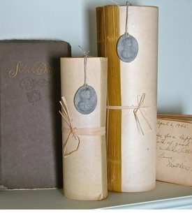 Vintage-Style Paper Rolls - Set/2 (ONLY 2 SETS LEFT)