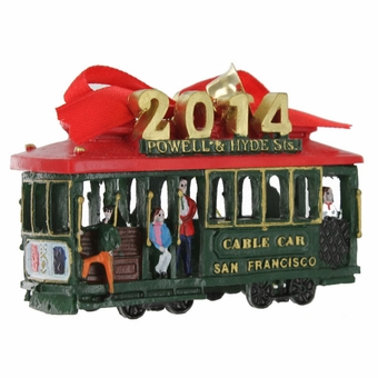 San Francisco 2014 Cable Car Ornament
