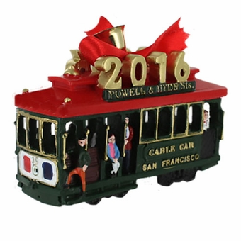 San Francisco 2016 Cable Car Holiday Ornament