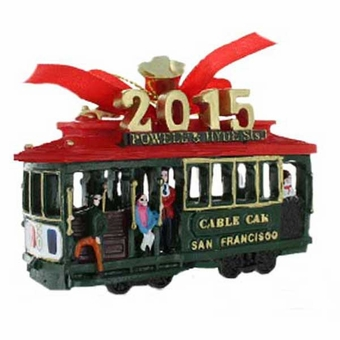 San Francisco 2015 Cable Car Ornament