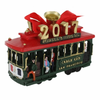 San Francisco 2017 Cable Car Holiday Ornament