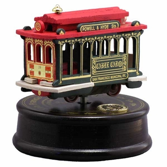 San Francisco Musical Cable Car Turntable: Green