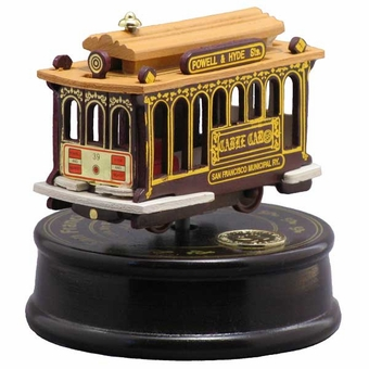 San Francisco Musical Cable Car Turntable: Ruby