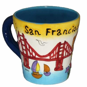 San Francisco Yellow Puff Trumpet Souvenir Mug