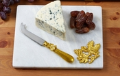 White Marble Cheese Board Set - CLOSEOUT