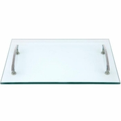 Alan Lee Princess Collection 12 X 18 Glass Tray With Handles