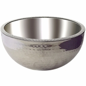 Alan Lee Princess Collection 12In Dual Angle Hammered Bowl
