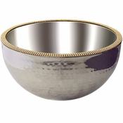 Alan Lee Princess Collection 12In Dual Angle Hammered Bowl Gold