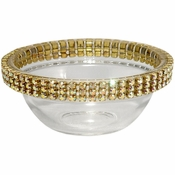 Alan Lee Princess Collection 2.5In Mini Glass Bowl Gold