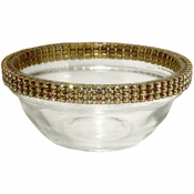 Alan Lee Princess Collection 3In Glass Bowl Gold