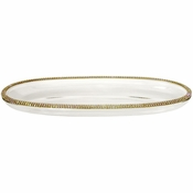 Alan Lee Princess Collection 4.5 X 12 Oval Glass Tray Gold