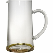 Alan Lee Princess Collection 40 Oz Glass Pitcher Gold