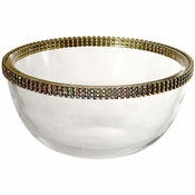 Alan Lee Princess Collection 6In Glass Wave Bowl Gold