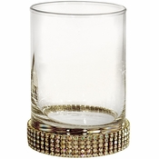 Alan Lee Princess Collection 6Oz Glass Tumbler / Kiddush Cup Gold