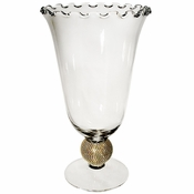 Alan Lee Princess Collection 7.5 X 12 Glass Vase Gold