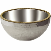 Alan Lee Princess Collection 8In Dual Angle Hammered Bowl Gold