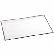 Alan Lee Princess Collection Glass 12 X 20 Rectangular Tray