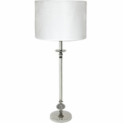 Alan Lee Princess Collection Metal Table Lamp With Faux Alligator Shade