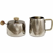 Alan Lee Princess Collection Sugar And Creamer Set Gold