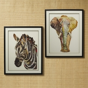 Animal Collage Wall Art Set Of 2