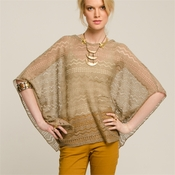 Bronze Loose Fitting Pointelle Top
