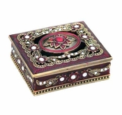 Burgundy Jewelry Box