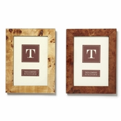 Burled Wood 5 X 7 Photo Frame - 2 Piece Set