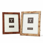 Burled Wood 8x10 Photo Frame - 2 Piece Set