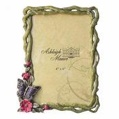 Butterfly On Vine 4x6 Green - CLOSEOUT